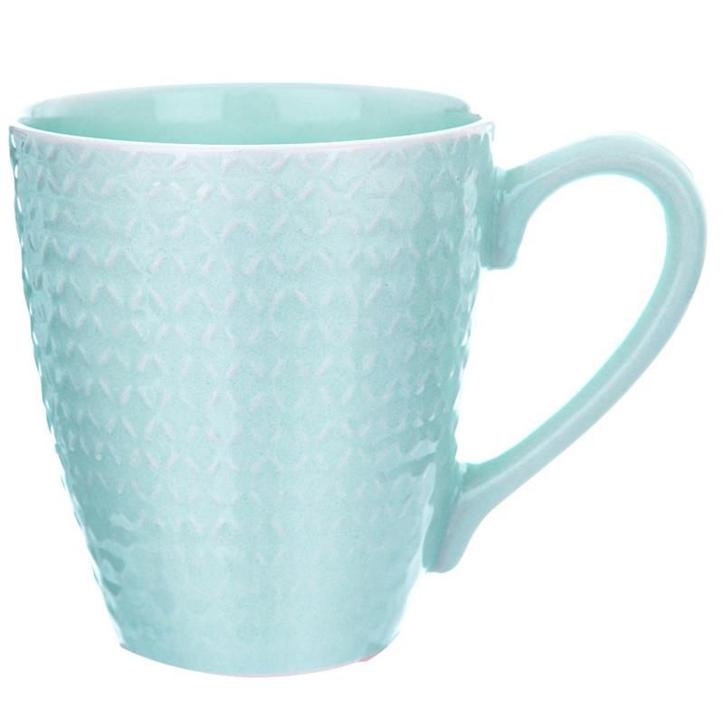 ORION Ceramic mug with handle for coffee tea 430 ml GREEN