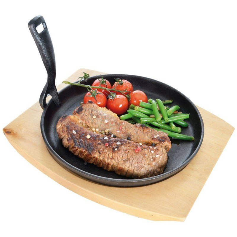 ORION Cast-iron pan plate cast-iron 22 cm with board