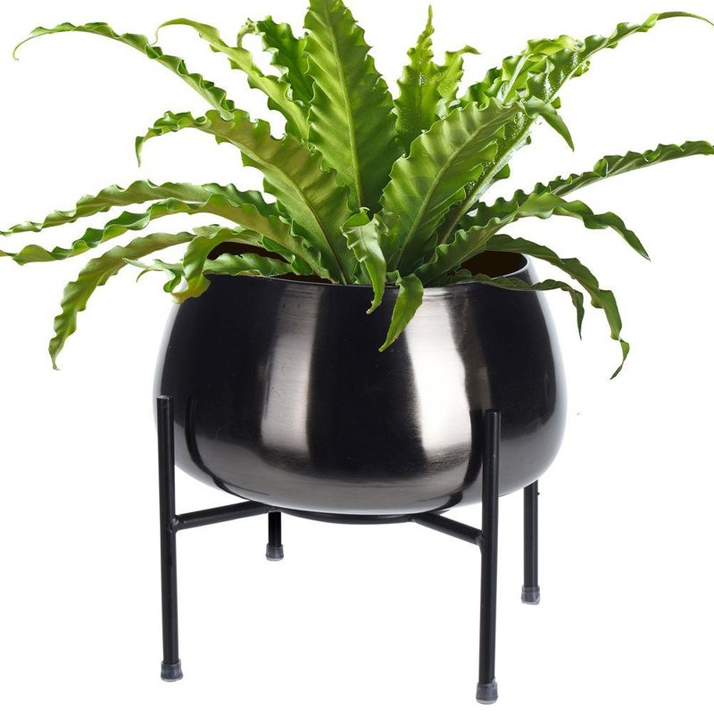 ORION Cover POT metal on stand 28x26 cm for plants flowers