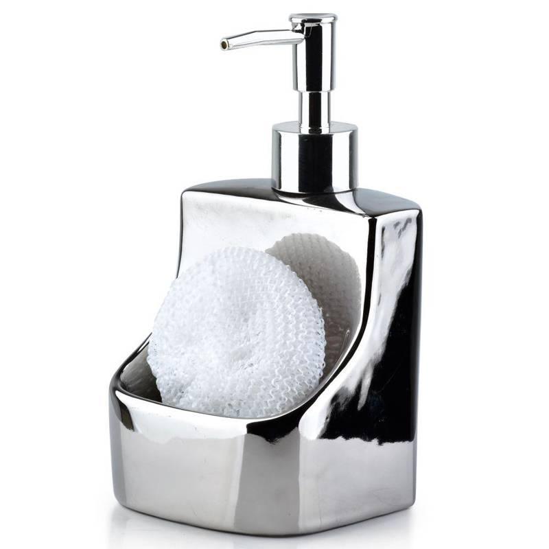 ORION Dispenser for soap gel washing-up liquid silver