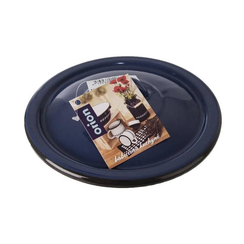 ORION ENAMEL lid for pot blue 16 cm