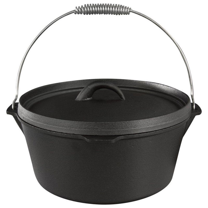 ORION Enamel cauldron hanging pot with lid 7,5L