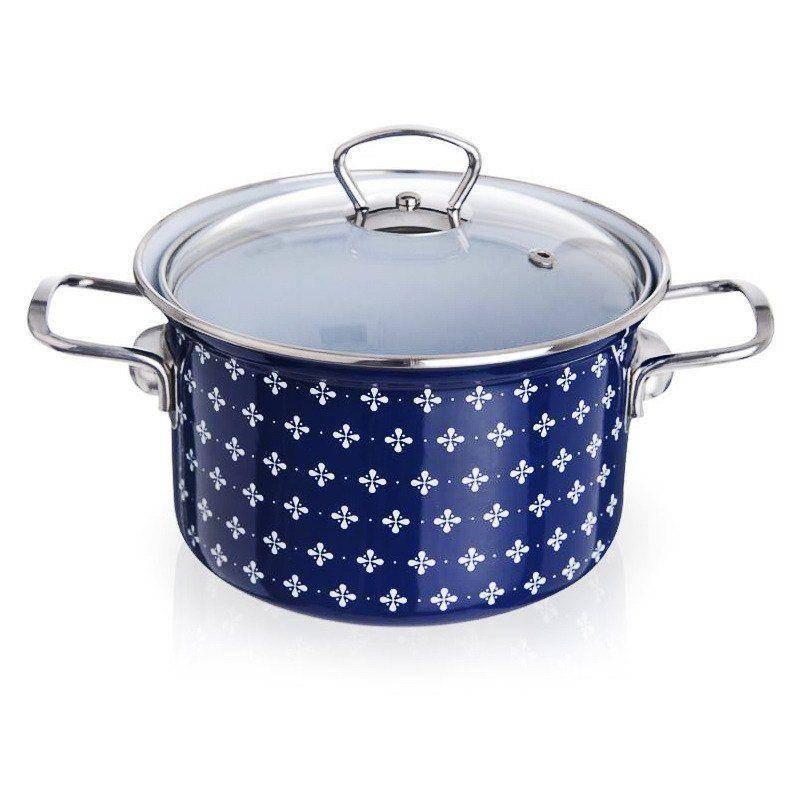 ORION Enamel pot with lid 18cm 2,8L SOFIA