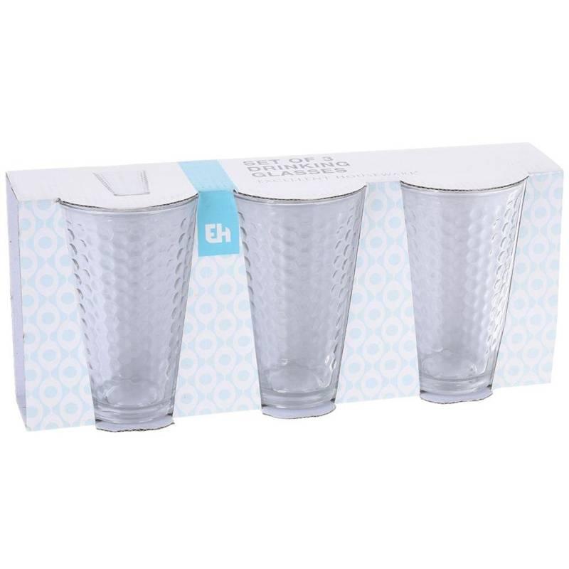 ORION Glass for water drinks juice lemonade drinks coffee 300ml 3 pieces