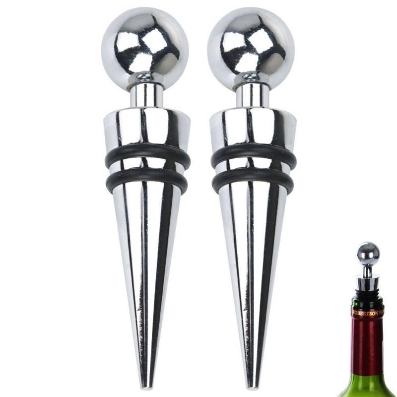 ORION Plug / cork for wine bottles stainless 2 pcs