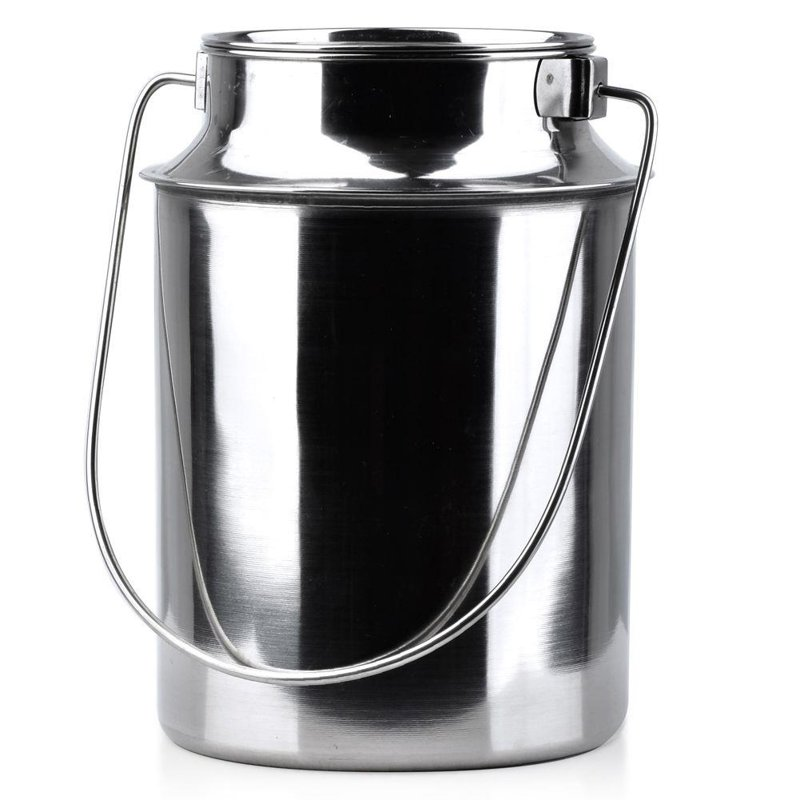 ORION Stainless Steel Milk Can Bottle Canister Container 4,3L