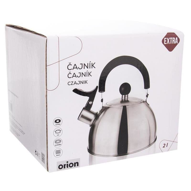 ORION Steel kettle with a whistle induction 2L