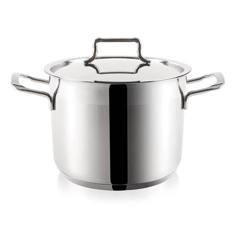 ORION Steel pot with lid 18/10 PREMIUM 8,1L