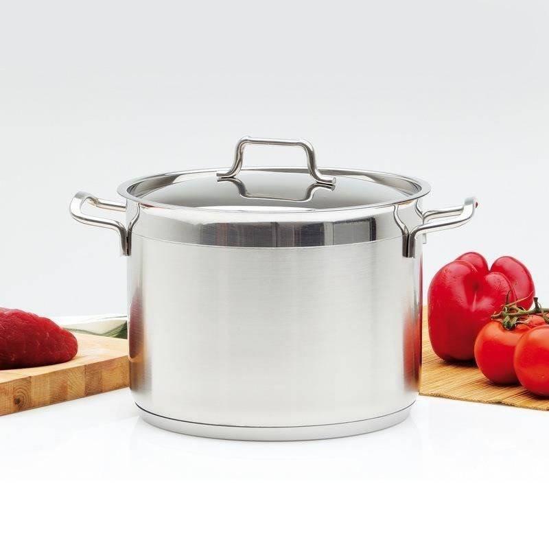 ORION Steel pot with lid 18/10 PREMIUM 8,2L