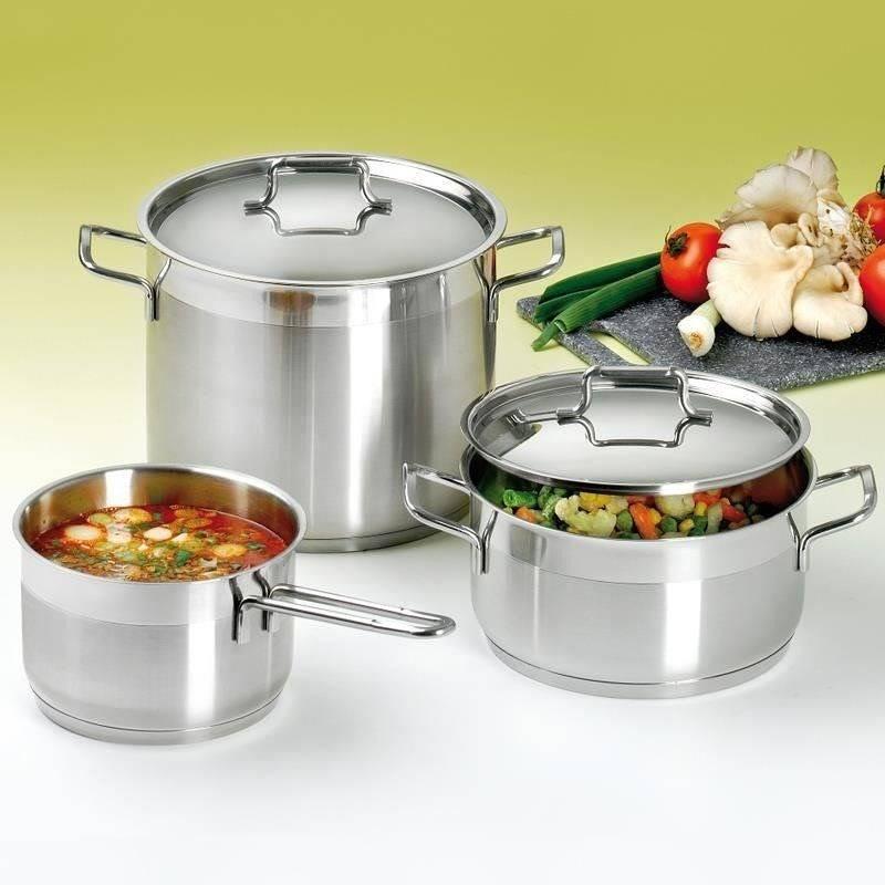 ORION Steel pot with lid 18/10 PREMIUM 8,5L