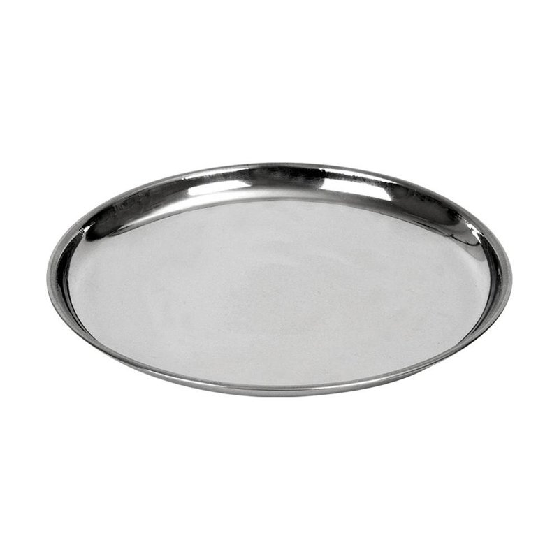 ORION Tray for serving steel round plate 18 cm