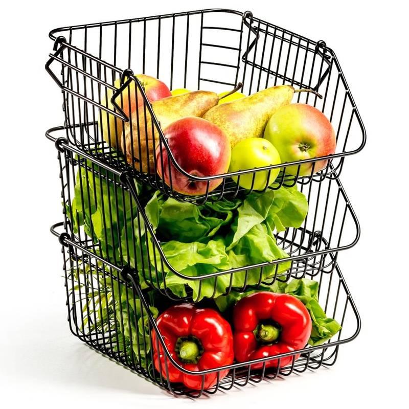 VILDE 3x Basket for fruit vegetables basket stand bowl LOFT