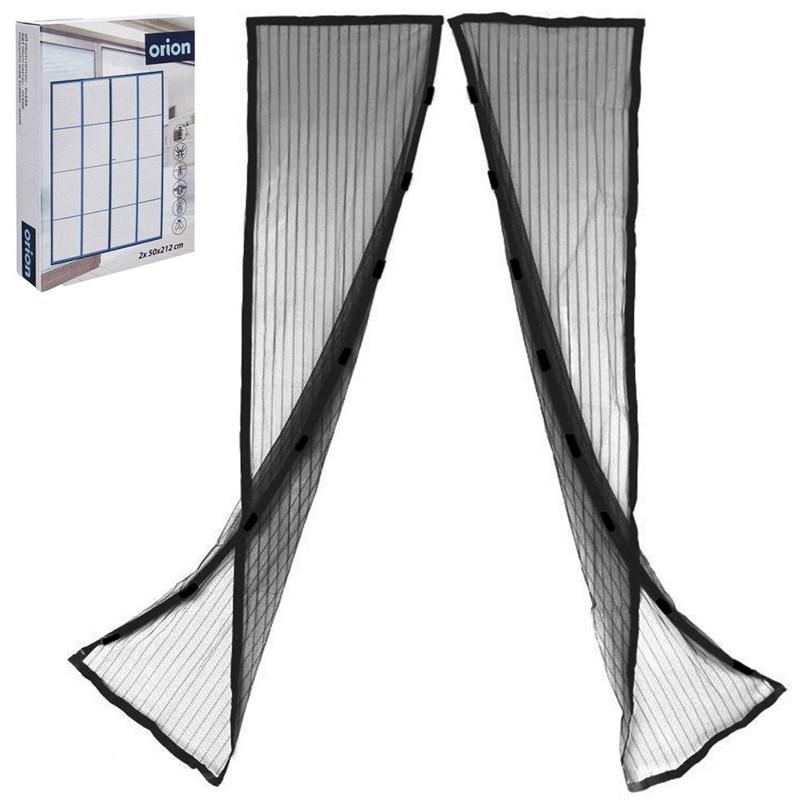 ORION Fliegengitter / Insektenschutz / MOSKITONETZ Magnetvorhang für die Tür in Schwarz