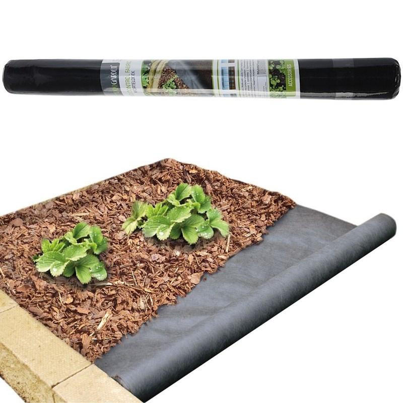 ORION Gartenvlies Unkrautvlies Unkrautfolie 150x800 cm schwarz stark wasserdurchlässig