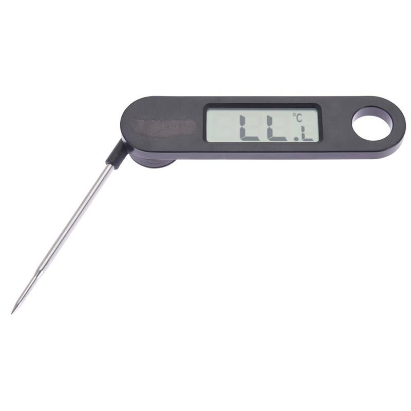 VAGGAN Küchenthermometer Fleischthermometer mit einer SONDE elektronisch klappbar