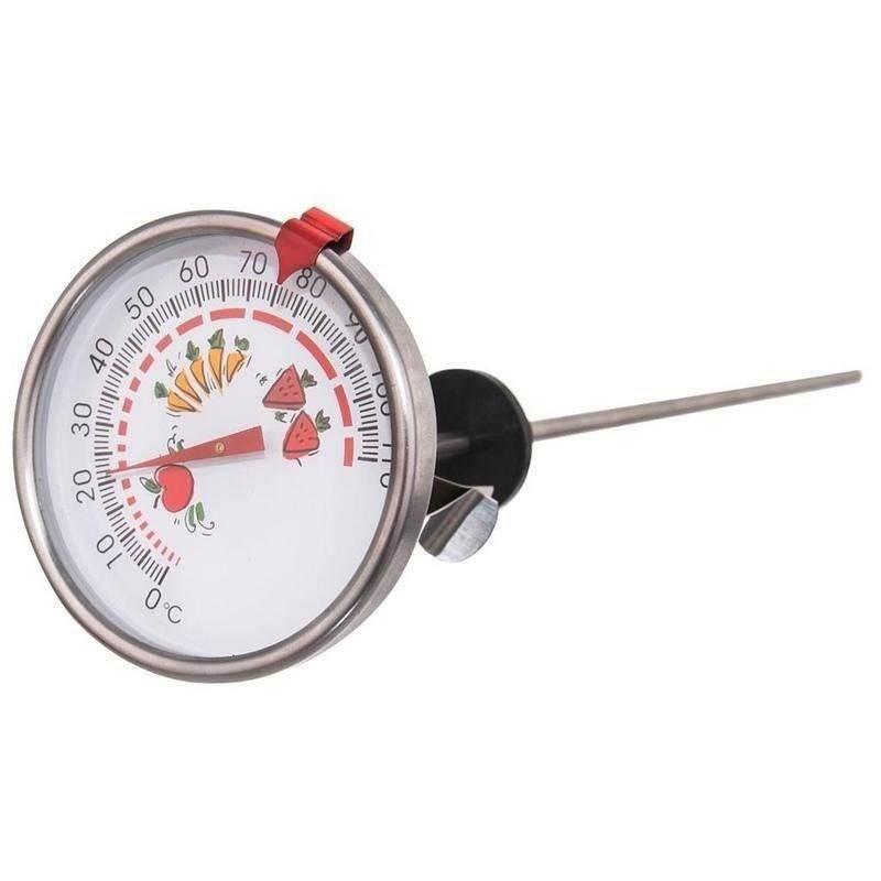 Küchenthermometer Thermometer für Einmachgläser zum Einkochen Einwecken 28 cm