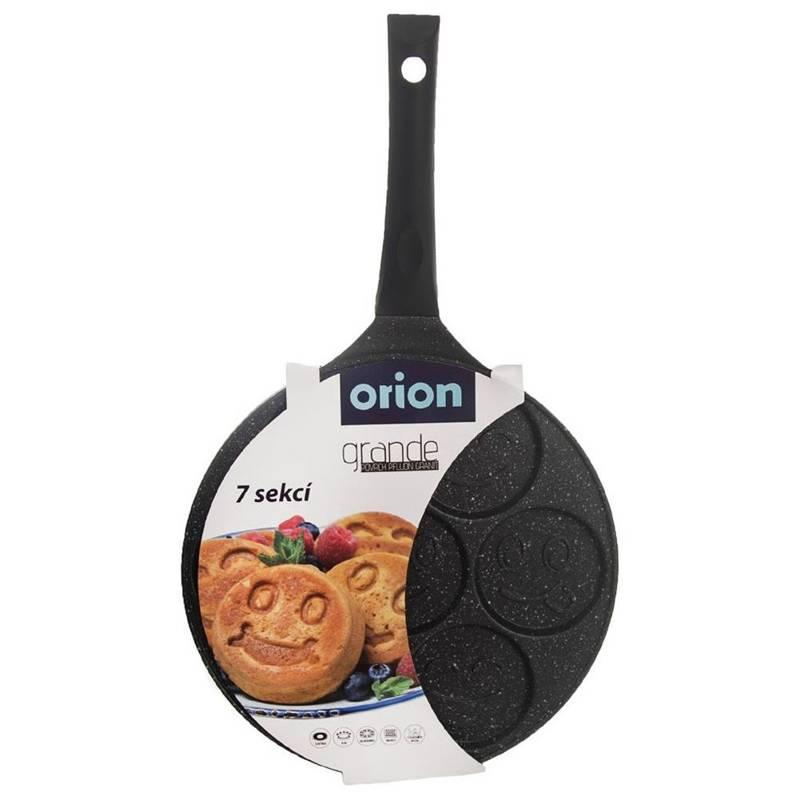 ORION Spiegelei-Pfanne für 4 Eier Crepepfanne für Gas Induktion Ø 27 cm GRANIT