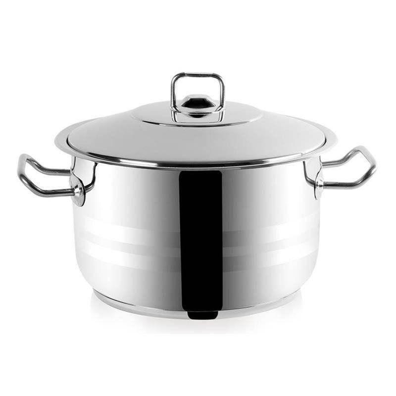 ORION Stahltopf / Kochtopf für Gastronomielokale mit Deckel GASTRO 16,3l