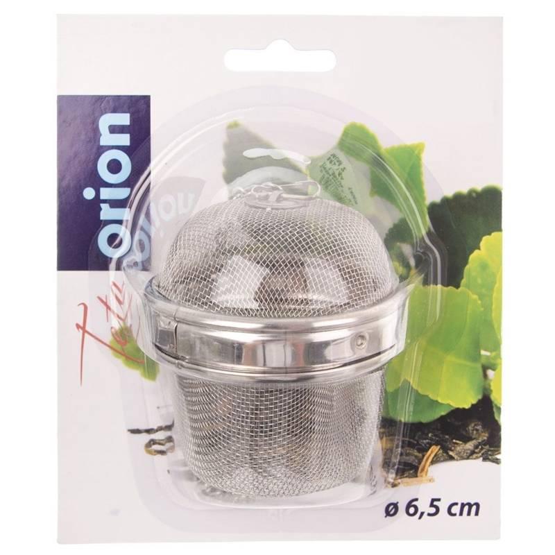 ORION Teeei / Teesieb Kräutersieb Teefilter mit Kette 6,5 cm