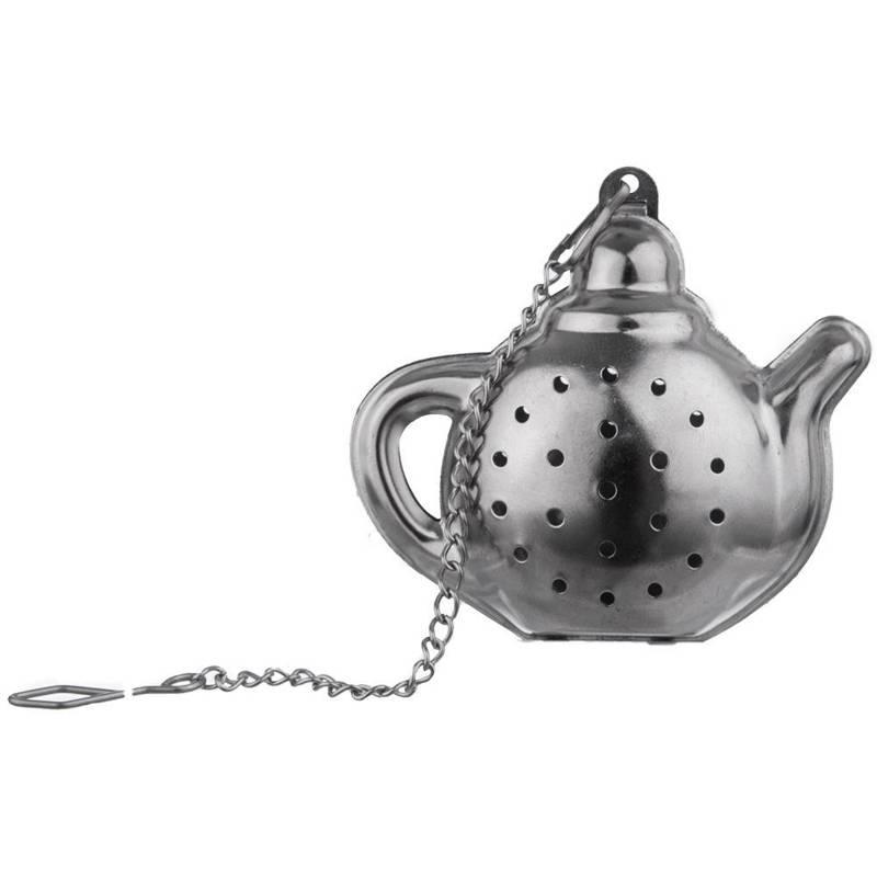 ORION Teesieb Kräutersieb Teefilter mit Kette 6x6 cm TEEKANNE
