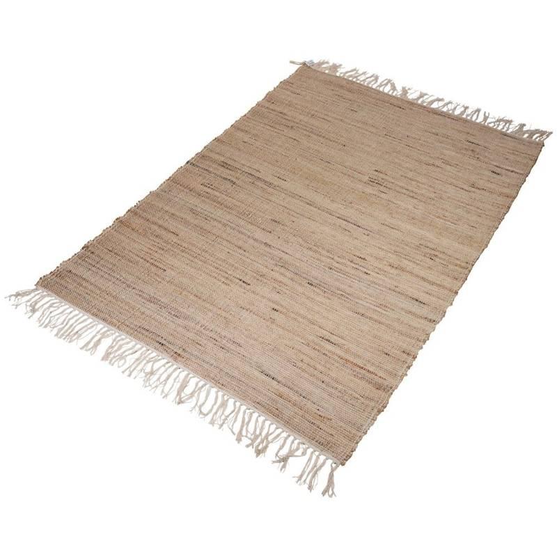 ORION Teppich Dekorationsteppich rechteckig aus Jute Baumwolle BOHO 120x180 cm