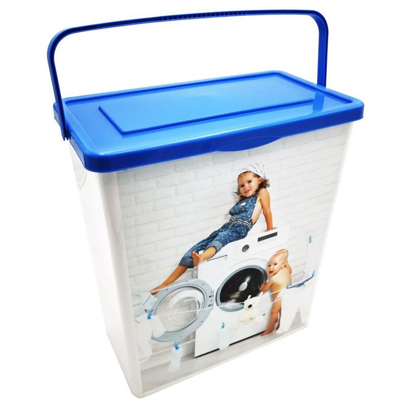 ORION Waschpulverbox / Aufbewahrungsbox für Waschpulver Waschkapseln XL groß 10l für Badezimmer