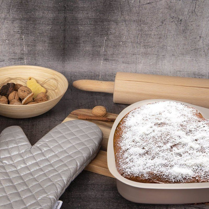 Professioneller Küchenhandschuh Topfhandschuh Ofenhandschuh 36x19 teflonbeschichtet