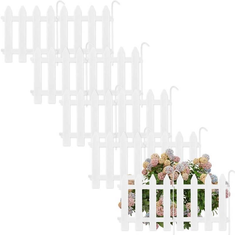 Vilde Gartenpalisade ZIERZAUN in Weiß 30x30 cm 10 Stück
