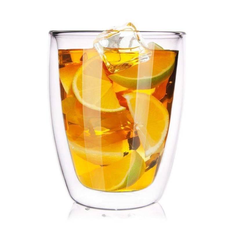 4x szklanka termiczna z podwójną ścianką do kawy, latte, 330 ml