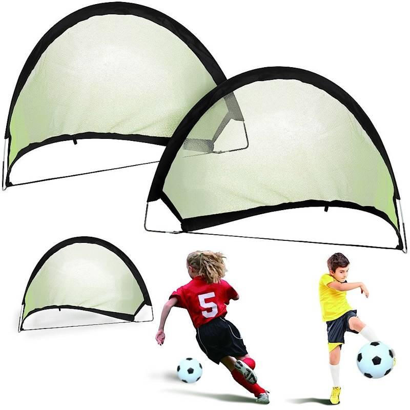 Bramka do piłki nożnej, składana, rozkładana, pop-up, 60x40x40 cm, zestaw, komplet, bramek, 2 sztuki