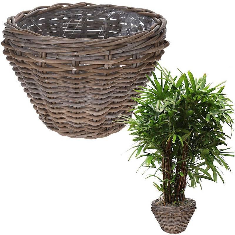 Doniczka, osłonka wiklinowa, rattanowa, kosz, koszyk na kwiaty, rośliny 37x24 cm