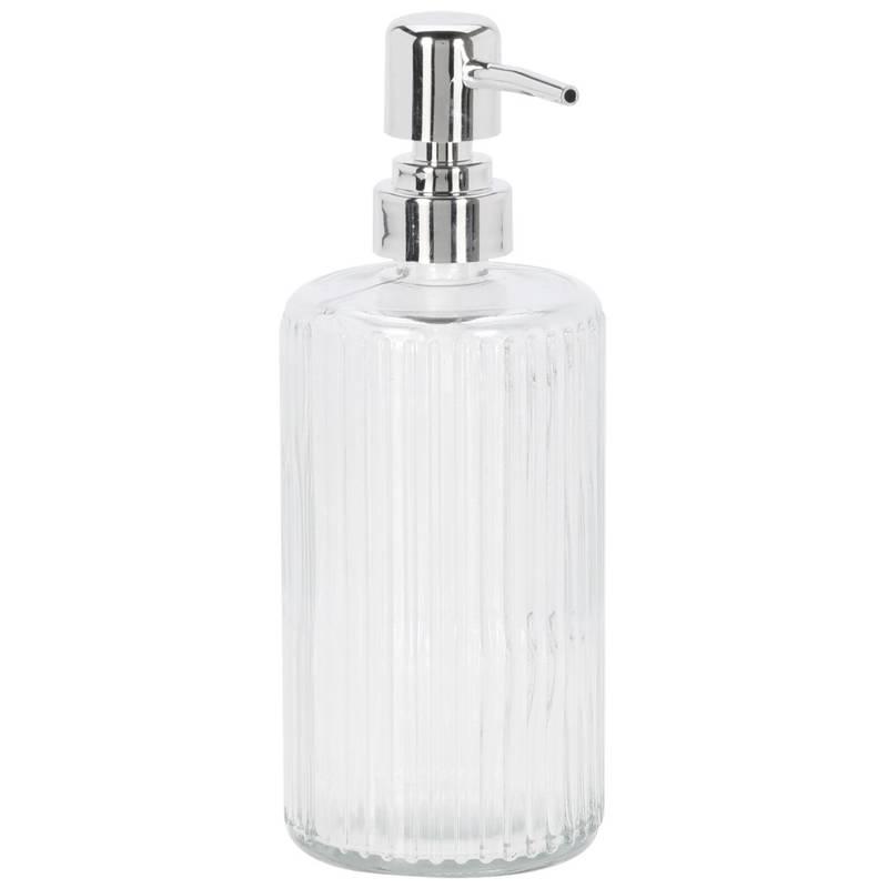 Dozownik do mydła w płynie, płynu do naczyń, żelu, szklany, łazienkowy, kuchenny, 470 ml