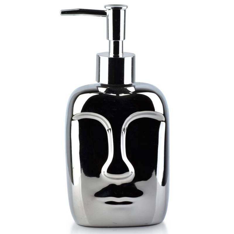 Dozownik do mydła w płynie żelu płynu do naczyń srebrny