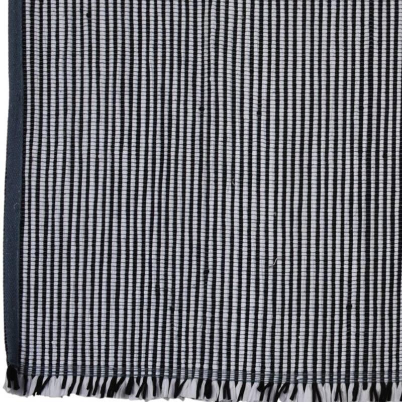 Dywan prostokątny, czarno-biały, w paski, 120x180 cm