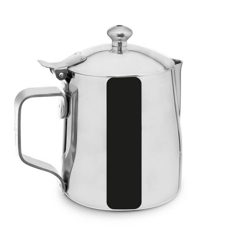 Dzbanek stalowy na mleko z pokrywką 0,35L dzbanuszek mlecznik