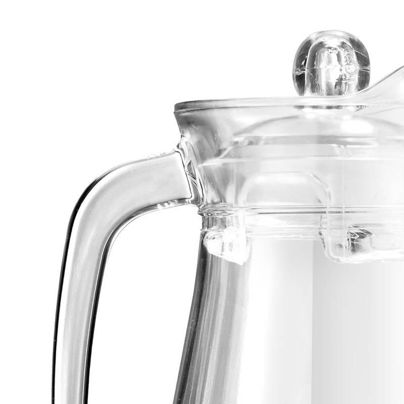 Dzbanek szklany do wody, kompotu, napojów, lemoniady, z uchwytem i pokrywką, 1,4 l