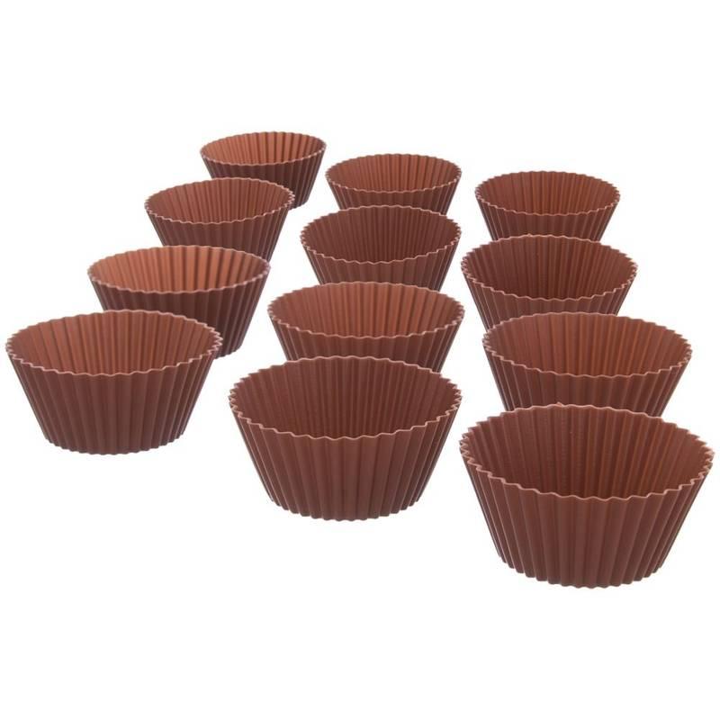 Forma do pieczenia muffinek, babeczek, na muffinki, silikonowa, foremki, 12 sztuk