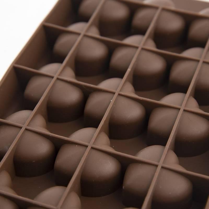 Forma silikonowa serca na praliny, czekoladki, foremka do pralin, czekoladek