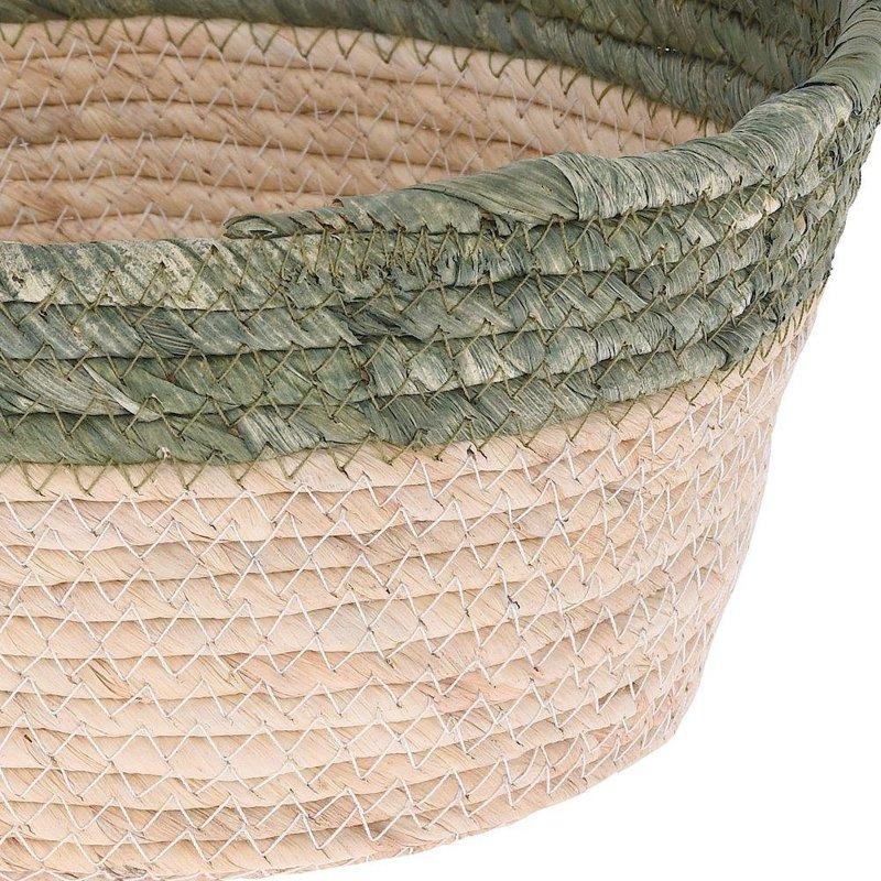 Koszyk, kosz pleciony z trawy morskiej do przechowywania, na drobiazgi, kosmetyki, osłonka na doniczkę, rośliny, 30x15 cm