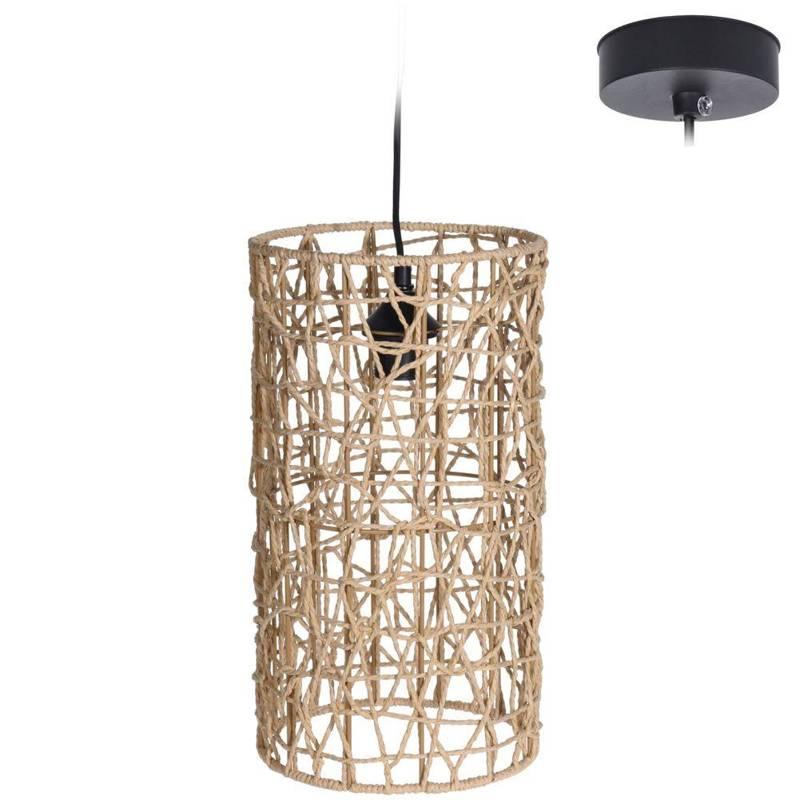 Lampa wisząca, boho, klosz z trawy morskiej, sufitowa, naturalna, 22x40 cm