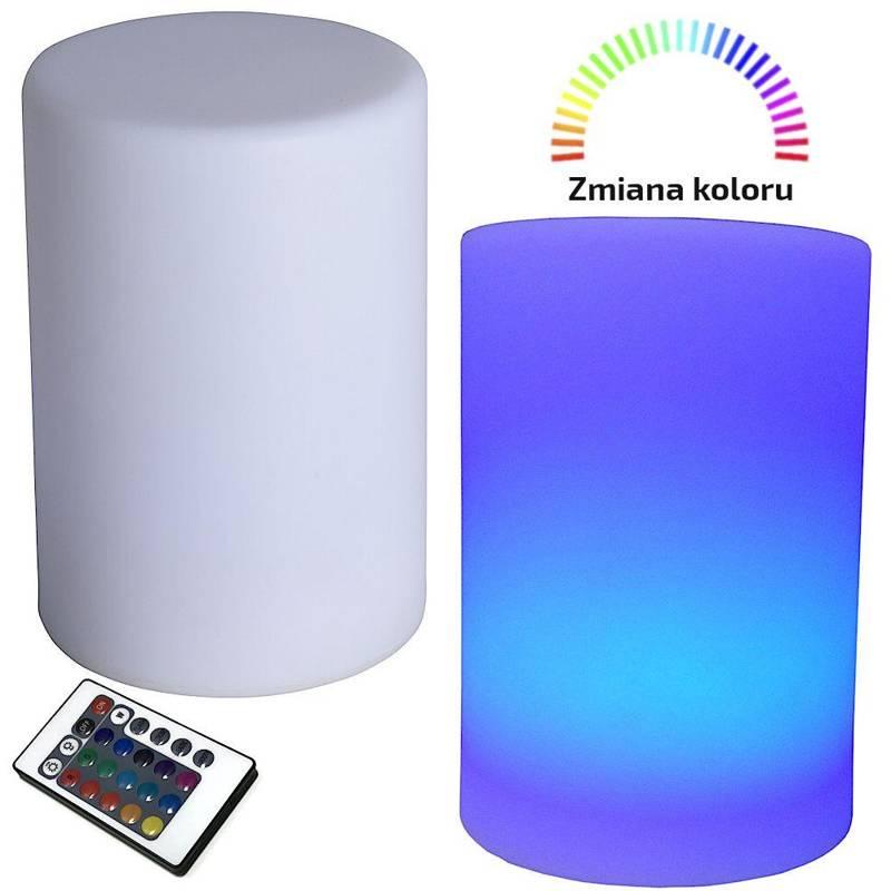 Lampka stołowa, nocna, LED, na biurko, komodę, szafkę, multikolor, + pilot
