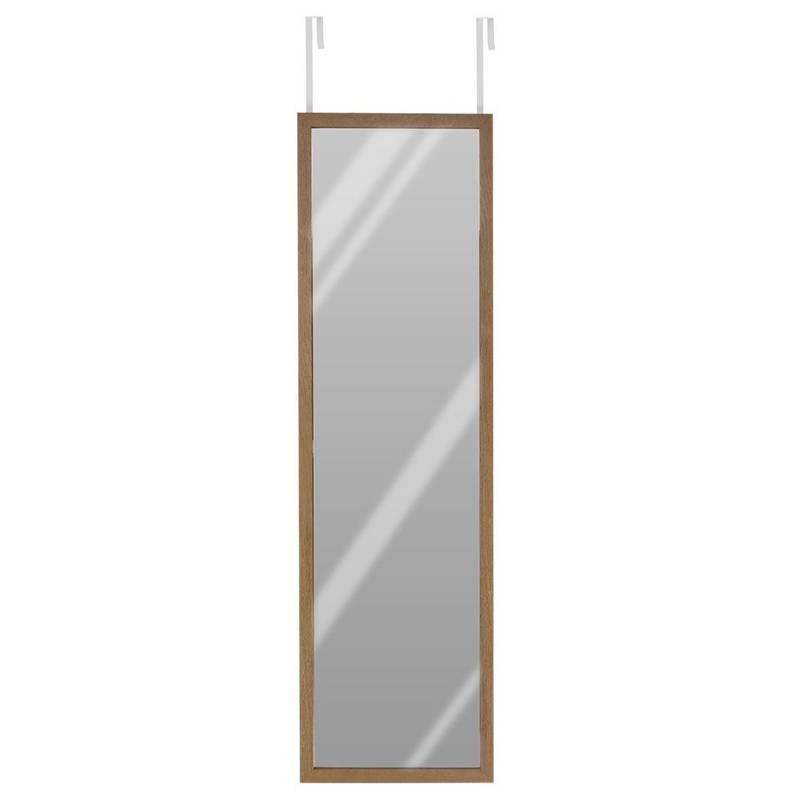 Lustro zawieszane na drzwi w drewnianej ramie, do zawieszenia, z wieszakiem, drewniane, 118x33,5CM