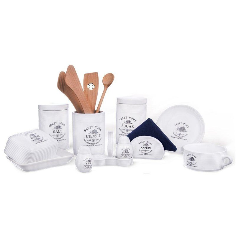 Maselniczka SWEET HOME z pokrywką maselnica ceramiczna pojemnik na masło