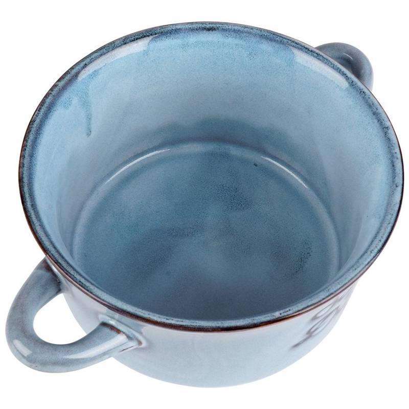 Miska na zupę, bulionówka do zupy, ceramiczna, 650 ml, niebieska