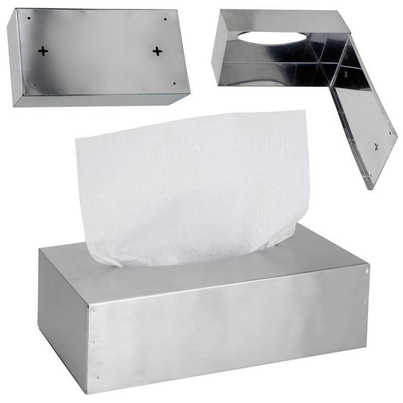 Podajnik pojemnik pudełko stalowe NA CHUSTECZKI chustecznik na ścianę ścienny do powieszenia