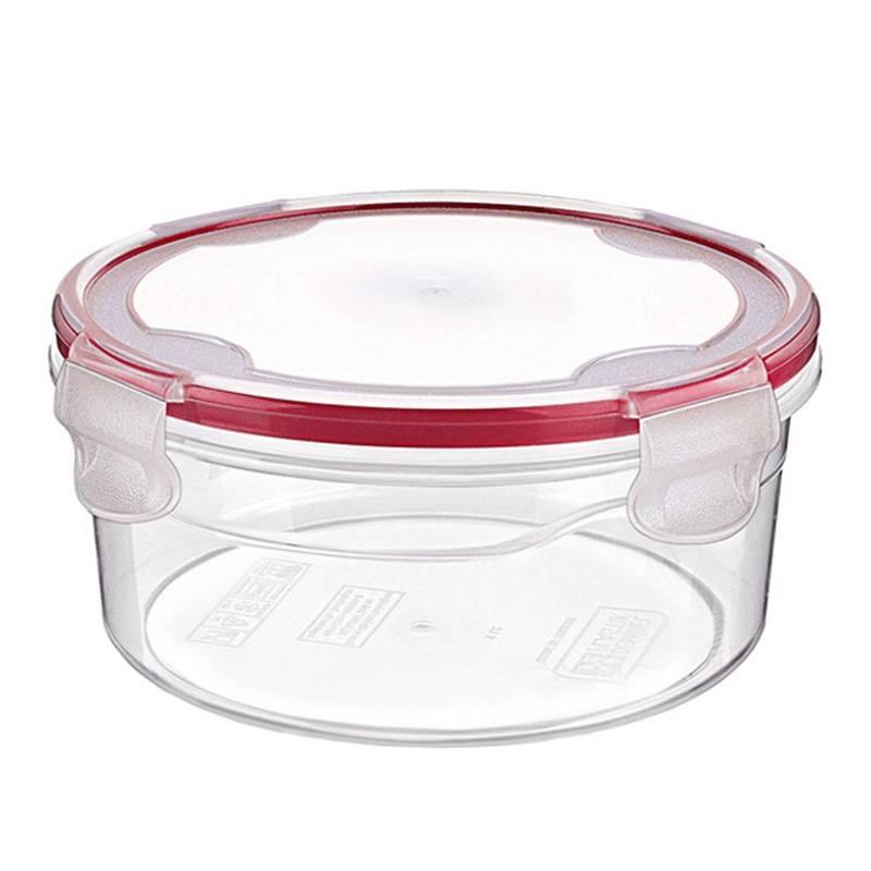 Pojemnik kuchenny do żywności z uszczelką 0,25L okrągły z klipsami do lodówki mrożenia mikrofalówki