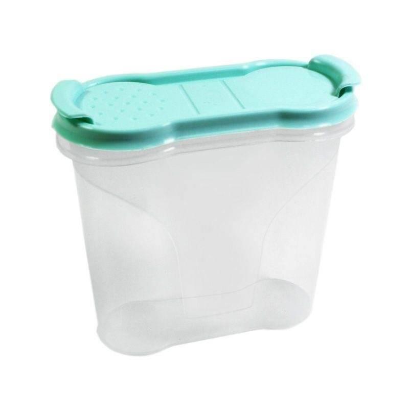 Pojemnik kuchenny na żywność płatki kasze makaron mąkę cukier produkty sypkie z dozownikiem i miarką 0,32L