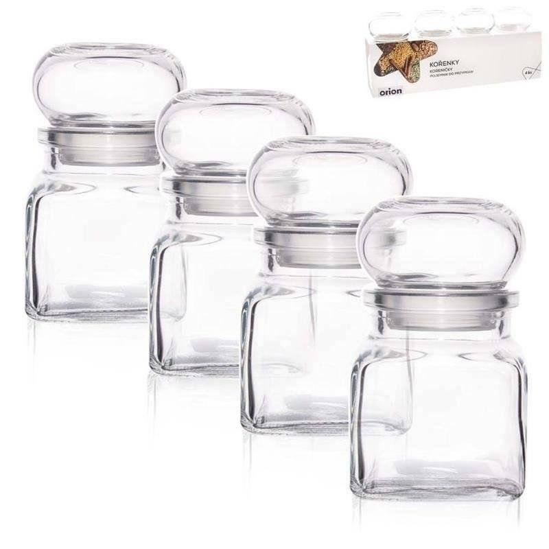 Pojemnik szklany na przyprawy 120 ml 4 szt ORION