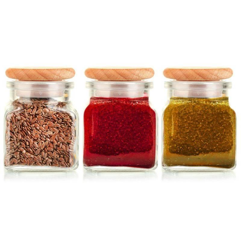 Pojemnik szklany / słoik na przyprawy 120 ml 3szt