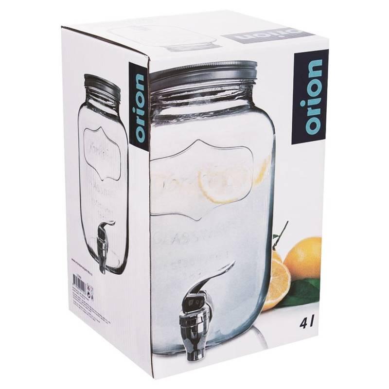 Słój, słoik, dystrybutor szklany z kranikiem, kranem, do napojów, lemoniady, 4 l